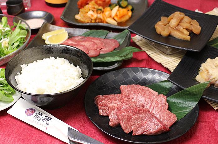 岡山焼肉店 龍現 桜花コース